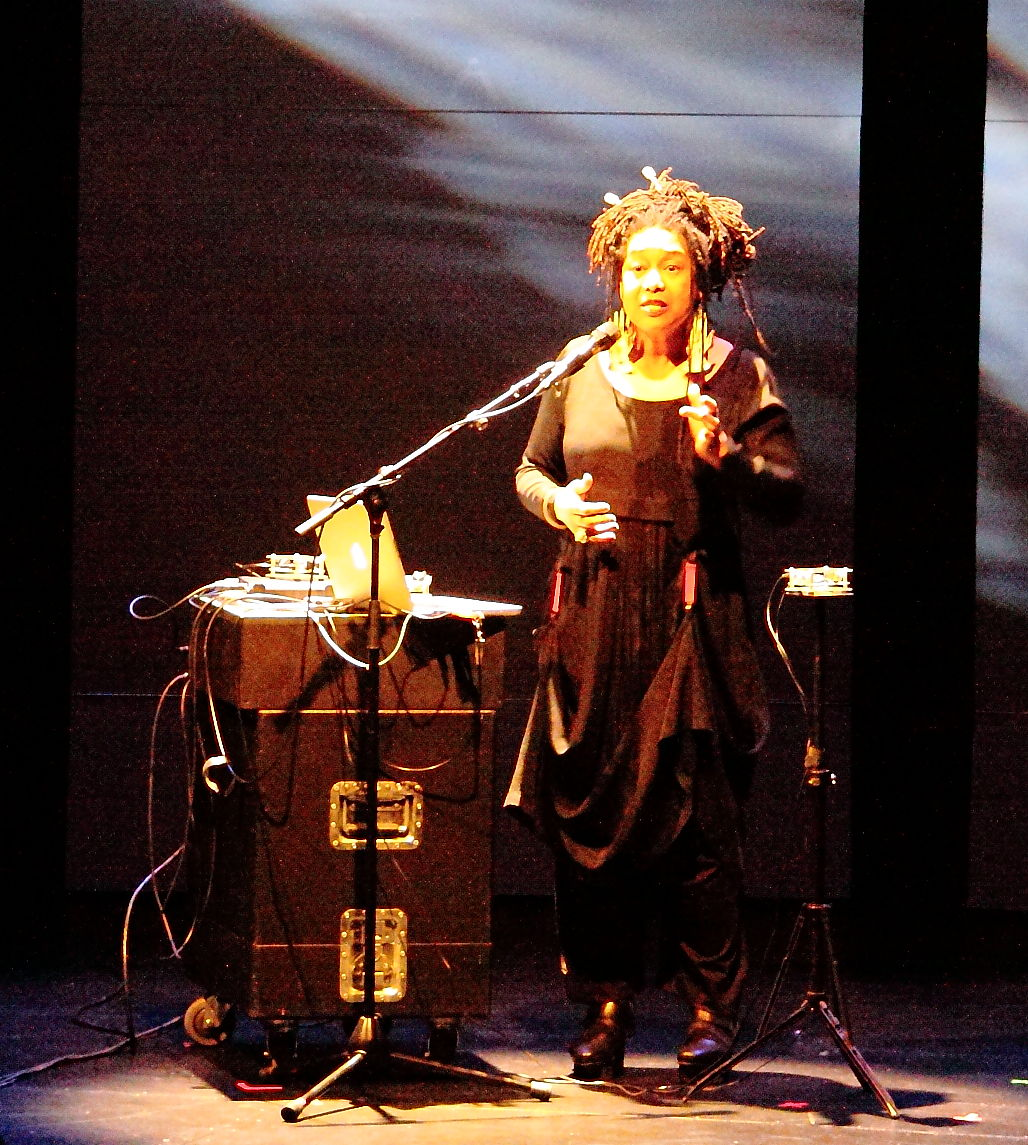 Pamela Z performing Meredith Monk's 'Scared Song'
