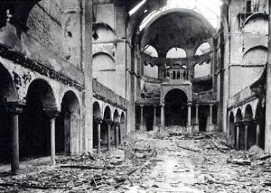 Interior of a Berlin Synagogue after Kristallnacht
