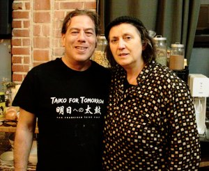 Philip Gelb with Joelle Leandre at one of his dinner/concerts.
