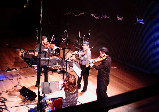 The Del Sol Quartet performing Miya Masaoka's Second String Quartet
