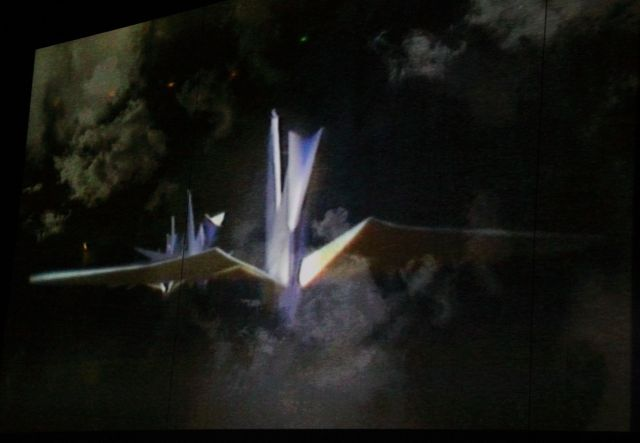 Three scenes from the video