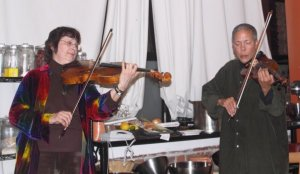 La Donna Smith and India Cooke playing an improvised duet.