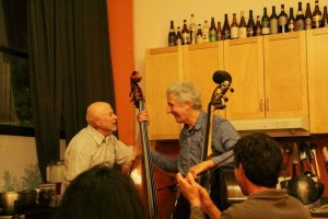 Bassists Mark Dresser and Barre Phillips play together for the first time at In the Mood for Food.