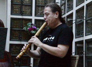 Philip Gelb performing at the June 21, 2015 Garden of Memory Concert at Oakland's Chapel of the Chimes.