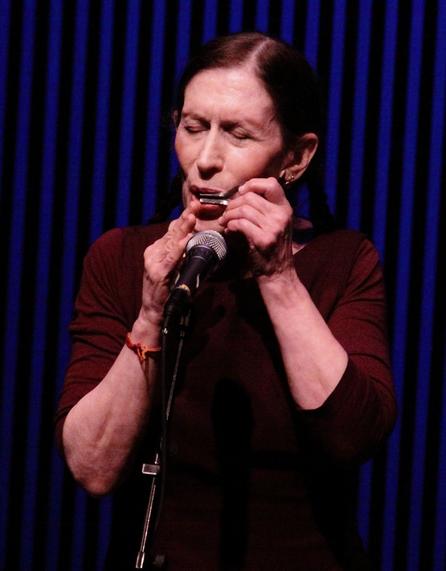 Meredith Monk playing a Jaw Harp in one of her early solo songs.