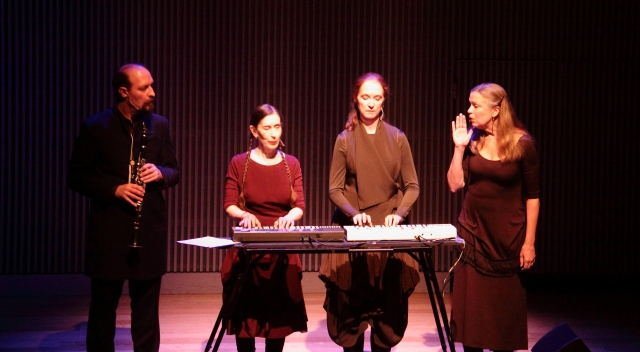 From left: Bodhan Hilash, Meredith Monk, Allison Sniffin and Katie Geissinger