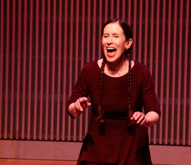Meredith Monk performing an encore at the final concert of OM 21