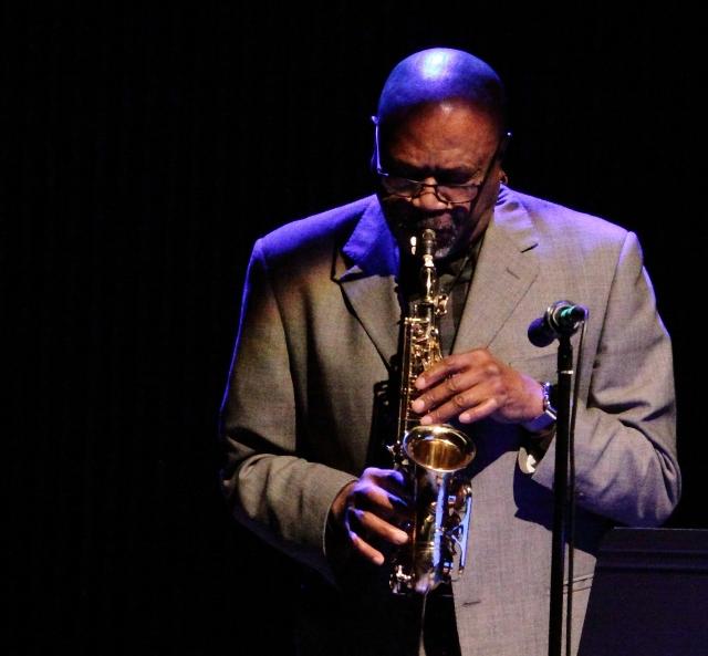 Oliver Lake delivering a blistering free jazz improvisation.