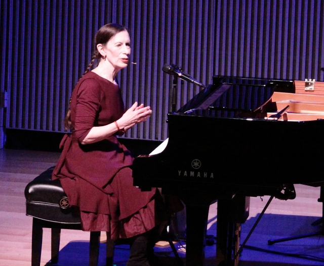Meredith Monk performing her signature Gotham Lullaby