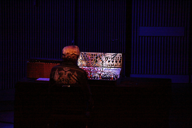 Don Buchla in his last major appearance performing at Other Minds 20.